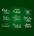 set welcome back to school labels school vector image vector image