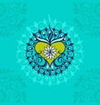 sketch of tattoo henna heart vector image vector image