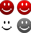 Smiley button vector image vector image