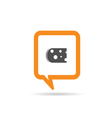 square orange speech bubble with cheese vector image