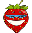 strawberries in sunglasses vector image vector image