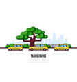 taxi service banner vector image
