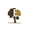 tree letter f vector image