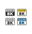ultra hd 8k icon vector image