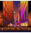 urban life city iat afternoon vector image