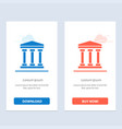 user bank cash blue and red download and buy now vector image vector image