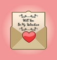 valentine propose mail vector image vector image