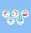 winter season holidays greeting cards or banners vector image