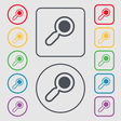 magnifying glass zoom icon sign symbol on the vector image