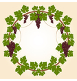 Grape round frame vector image