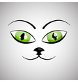 Abstract Cat Face vector image vector image