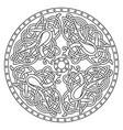 ancient celtic mythological symbol bird celtic vector image vector image