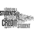 are student loans better than credit cards text vector image vector image