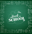 back to school hand-drawn doodles background vector image vector image