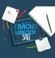 back to school sale lettering banner vector image vector image