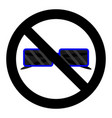 ban sunglasses icon vector image