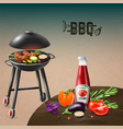 bbq grill realistic vector image vector image