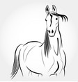 beautiful horse logo vector image vector image