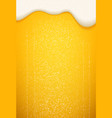 beer foam and bubbles background poster template vector image vector image