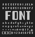 Bold Font Type letters and numbers vector image vector image