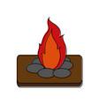 bonfire fire icon image vector image vector image