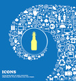 bottle sign symbol Nice set of beautiful icons vector image