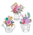 bouquet flower on the pot vector image