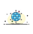 business international net network web flat color vector image