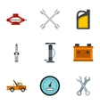 Car repairs icons set flat style vector image vector image