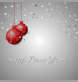 christmas ball background vector image vector image