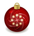 christmas ball isolated on white new year night vector image vector image