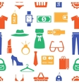 Colorful Clothing and Accessories Themed Graphics vector image vector image