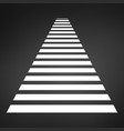 crosswalk icon road sign stripes stock isolated vector image vector image