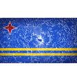 Flags Aruba with broken glass texture vector image