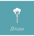 Fork and chef hat shape of crown Menu cover Flat vector image vector image