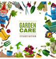 garden maintenance tools frame vector image