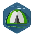 Graphical camping made in flat style vector image