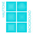halftone background collection vector image vector image