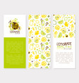 healthy lemonade banner template original design vector image vector image