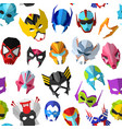 hero mask superhero masque and masking face vector image