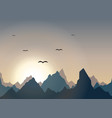 horizontal panorama of beautiful sunrise in the vector image vector image