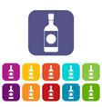 japanese sake icons set vector image vector image