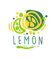 lemon original design logo natural healthy vector image vector image