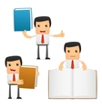 manager with books vector image vector image