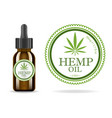 marijuana cannabis hemp oil realistic brown vector image