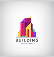 multicolored real estate logo designs vector image vector image