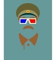 Mustache and steroe glasses vector image vector image
