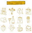 Object valentine day icons art vector image vector image