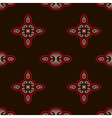 oriental pattern in red and black colors vector image vector image