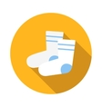Pair of white sock icon flat style vector image